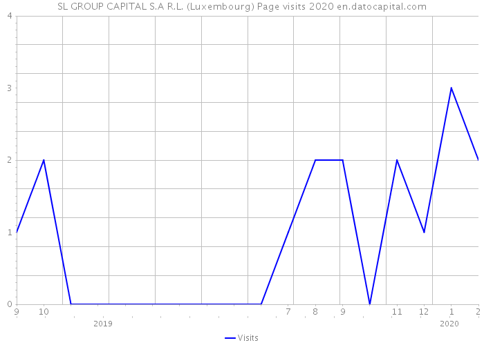 SL GROUP CAPITAL S.A R.L. (Luxembourg) Page visits 2020