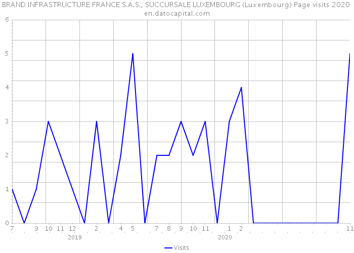 BRAND INFRASTRUCTURE FRANCE S.A.S., SUCCURSALE LUXEMBOURG (Luxembourg) Page visits 2020